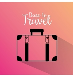Travel suitcase silhouette icon vector