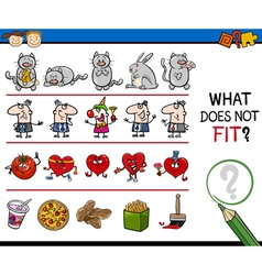 Wrong picture task for kids vector