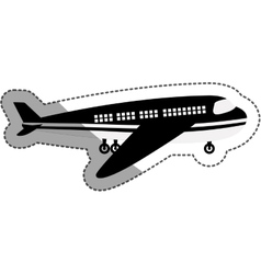 Isolated airplane design vector