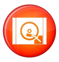 Turntable icon flat style vector image