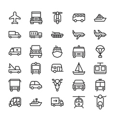 Transport colored icons 3 vector