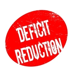 Deficit reduction rubber stamp vector