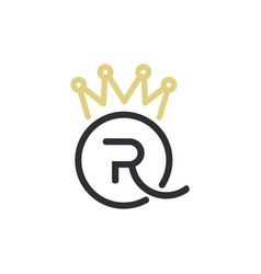 Royal queen letters and crown logo vector