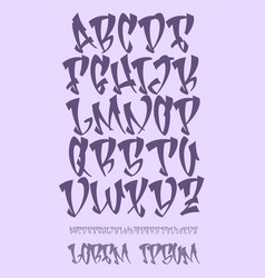 Graffiti alphabet- hand written - font vector