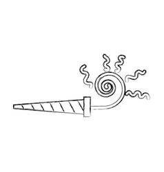 Sketch draw serpentine shot cartoon vector