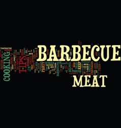 Barbecues galore text background word cloud vector