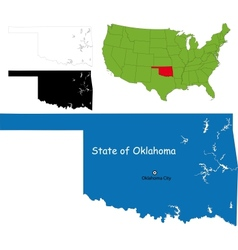 Oklahoma map vector