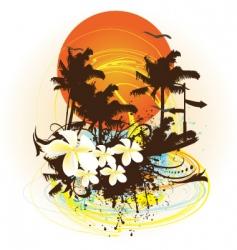 summer print vector image