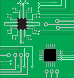 System computer electronic board flat modern backg vector
