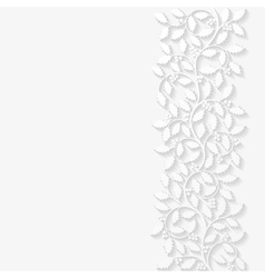 Floral background with holly vector image