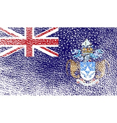 Flag of tristan da cunha with old texture vector