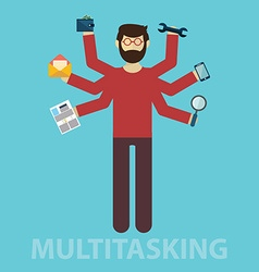 Multitasking human resource and self employment - vector