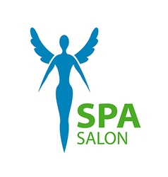 Logo girl with wings for the spa salon vector