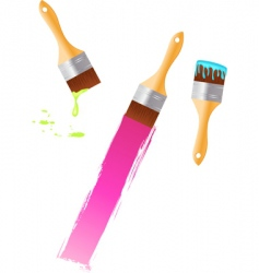 multicolored paintbrushes vector image