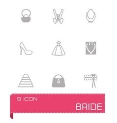 Bride icon set vector