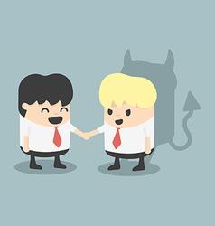 Businessman handshake impostor vector
