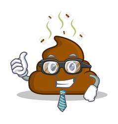 Businessman poop emoticon character cartoon vector