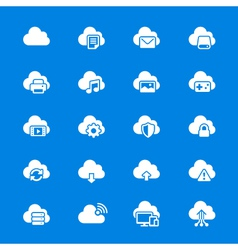 Cloud computing flat icons vector