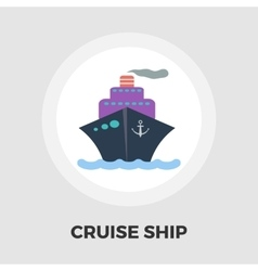Cruise Ship Flat Icon vector image