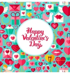 Flat valentines day greeting vector