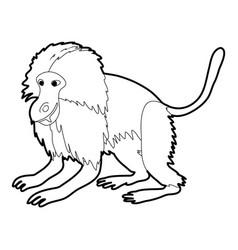 gelada monkey icon outline vector image vector image