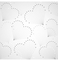 Geometric pattern in shape of hearts vector