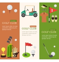 Golf Club Banner Flat Design Style vector image vector image
