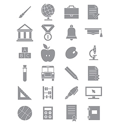 Gray school icons set vector image vector image