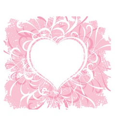 grunge valentines vector image vector image