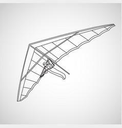 Hang gliding logo icon vector