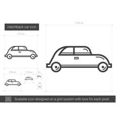 hatchback car line icon vector image vector image
