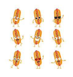 hot dog - set of mascot vector image vector image