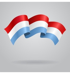 Luxembourg waving flag vector
