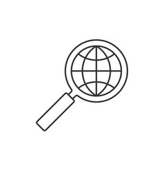 magnifier glass with globe vector image vector image