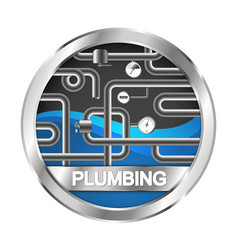 Plumbing and water pipe symbol vector