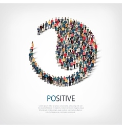 Positive people sign 3d vector