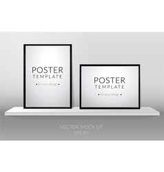 Poster template vector image