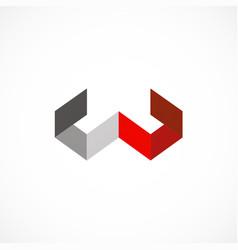 shape letter w shape business company logo vector image vector image