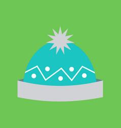 Simple cartoon warm cap vector