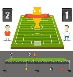 Soccer match statistics template flat design vector