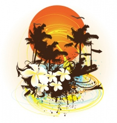 summer print vector image
