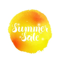 Summer Sale Watercolor Concept vector image vector image