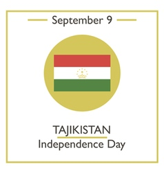 Tajikistan independence day vector