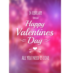 Valentine blurred background vector image