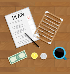 write financial plan vector image vector image