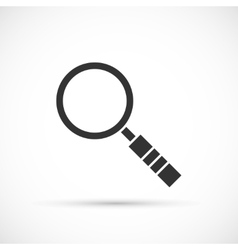 Magnifier icon on white background vector