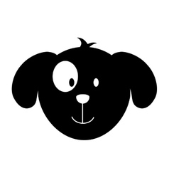 Cute dog mascot head isolated icon vector