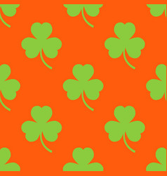 clover pattern on an orange background vector image