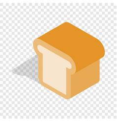 bread isometric icon vector image