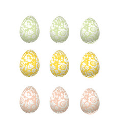 easter egg luxury decoration  floral elegant style vector image